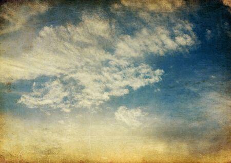 Vintage tranquil sunset sky retro background. Stock Photo - 7389603