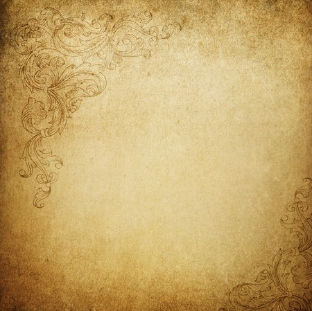 floral ornaments: Aged vintage background with floral ornament elements. See this elements in vector in my portfolio.