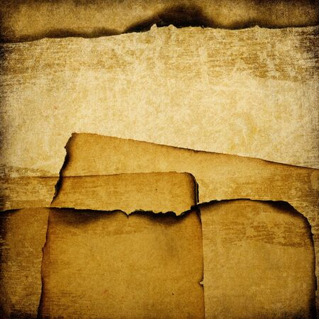burning paper: Burned grunge paper background. With space for text.