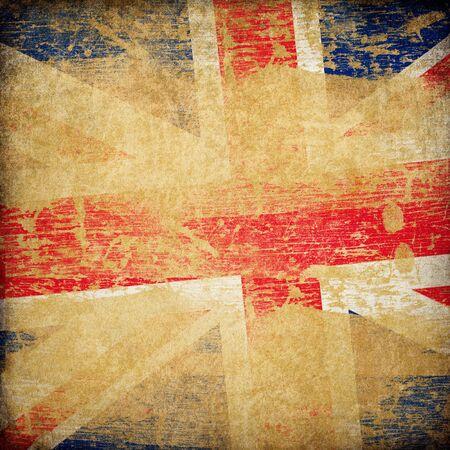 britain flag: England grunge flag background. Stock Photo