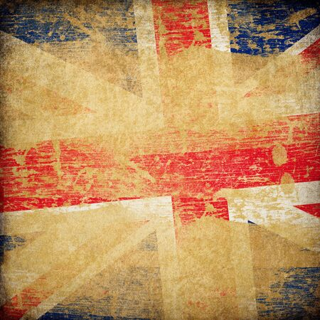 bandera inglesa: Fondo de bandera de grunge de Inglaterra.