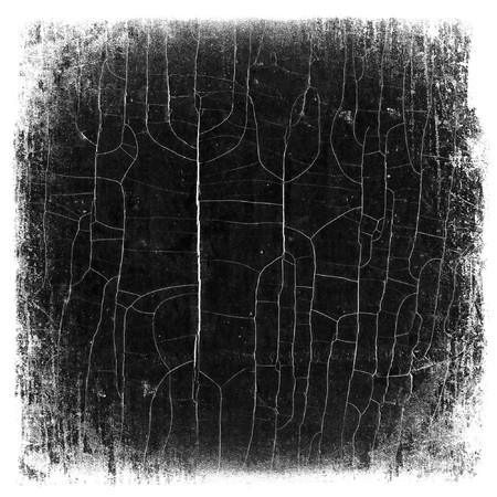 Grunge cracked wood pattern mask, isolated edges. photo