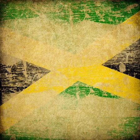 jamaican: Jamaica grunge flag background.