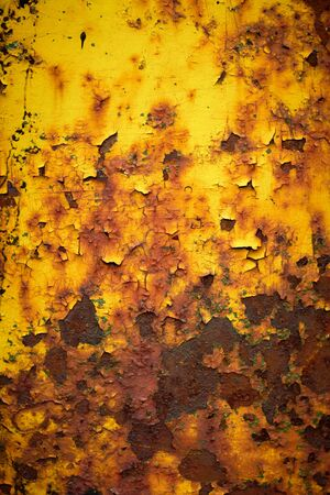Worn and weathered crusted chipped paint on textured metal Stock Photo - 7543950