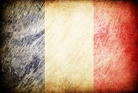 french culture: Grunge rubbed flag series of backgrounds. France.