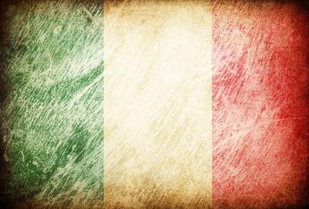 italien flagge: Grunge rieb Flag Serie von Hintergr�nden. Italien.