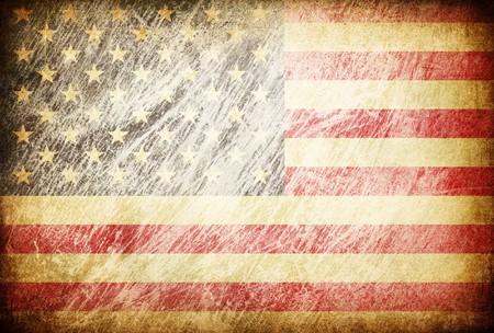 old flag: Grunge rubbed flag series of backgrounds. USA. Stock Photo
