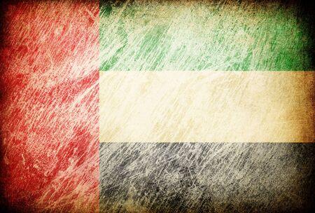 Grunge rubbed flag series of backgrounds. United Arab Emirates. photo
