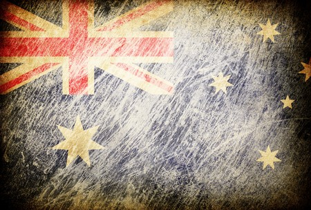 Grunge rubbed flag series of backgrounds. Australia. photo