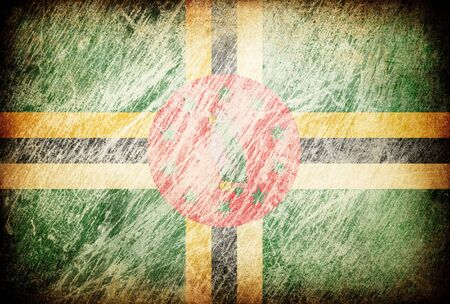 dominica: Grunge rubbed flag series of backgrounds. Dominica.