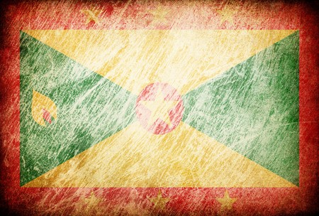 grenada: Grunge rubbed flag series of backgrounds. Grenada.