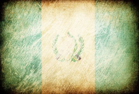 Grunge rubbed flag series of backgrounds. Guatemala. Stock Photo - 7601707