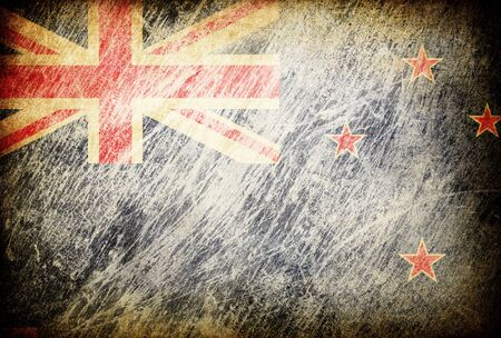 Grunge rubbed flag series of backgrounds. New Zealand. Stock Photo - 7601751