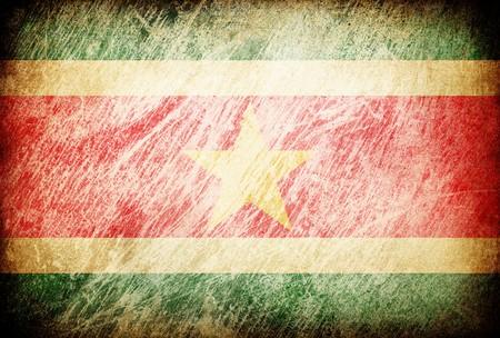 suriname: Grunge wreef vlag reeks achtergronden. Suriname.