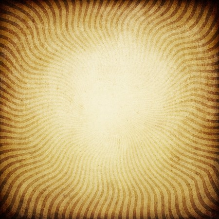 radial: Vintage sunburst brown background. With space for text or image. Stock Photo