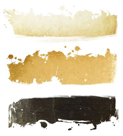 gamut: Grunge banners collection. Brown gamut. Stock Photo