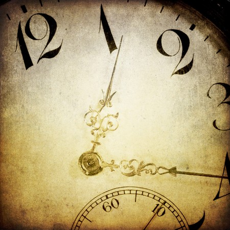 Vintage clock face. Abstract time theme background. photo