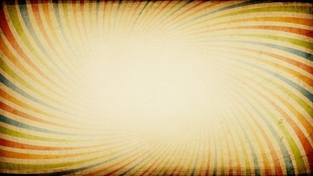 aspect: Vintage sunburst colorful wide background with aspect ratio 16:9. Stock Photo