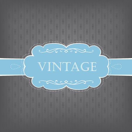 Vintage card in cold gamut Stock Vector - 7864668