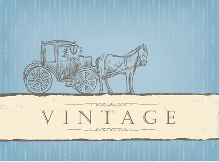 Vintage styled card. Stock Vector - 7985110