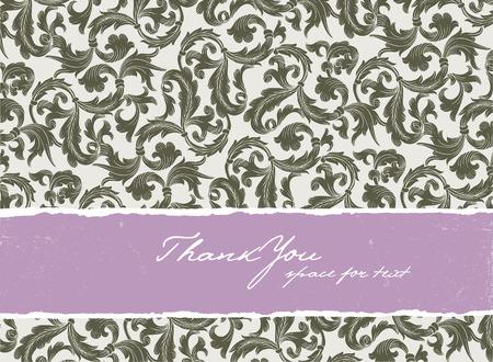 Template vintage frame design for greeting card. Stock Vector - 7985111