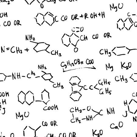 garabatos: Patr�n de f�rmulas de qu�mica transparente