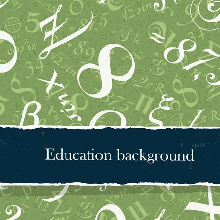 math set: Education backgrounds set with copyspace. Easy editable by layers, eps10. Stock Photo