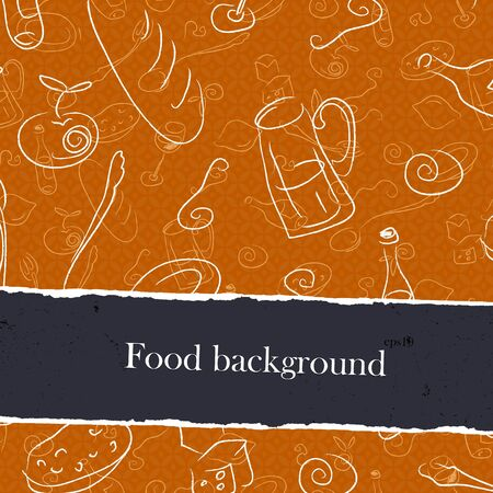 food and beverages: Food Backgrounds Set With Copyspace.