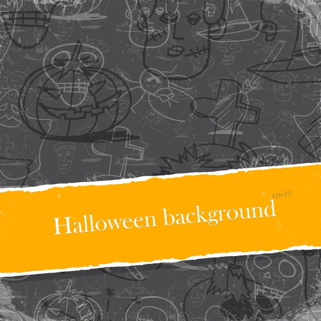 Halloween Backgrounds Set With Copyspace. photo