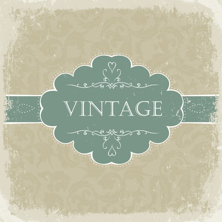Beige vintage greetings. Stock Photo - 7985126