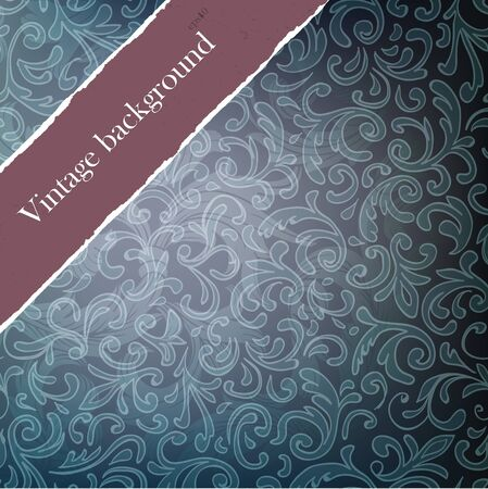 Dark vintage background with copyspace. Easy editable by layers, eps10. photo
