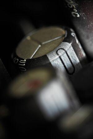 Capacitors: Capacitors on microcircuit board