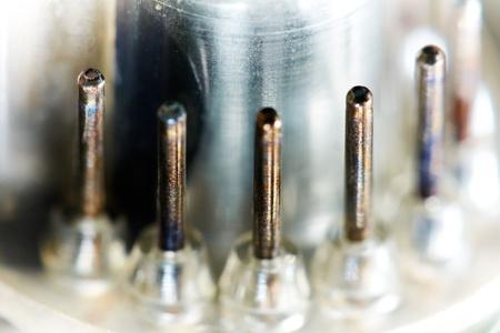 Vintage cathode ray tube, macro, shallow depth of field. photo