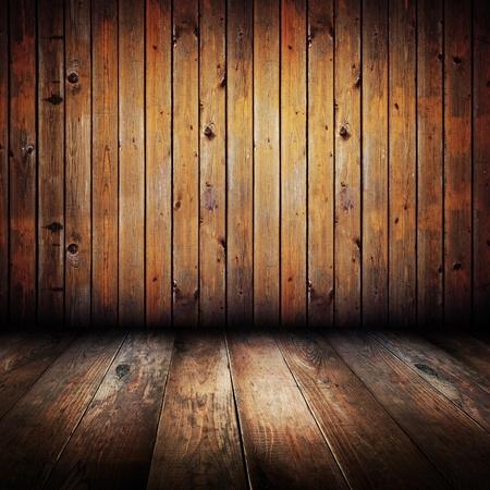 Vintage yellow wooden planks inter  Stock Photo - 9390330