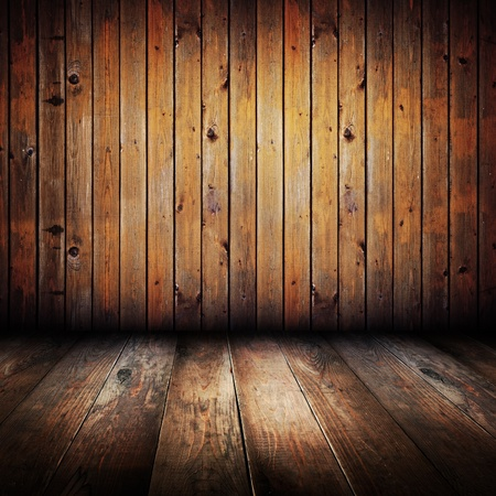 wooden floors: Vintage yellow wooden planks interior