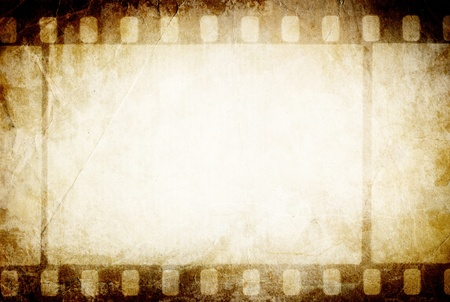 Old filmstrip. Classic vintage background. photo