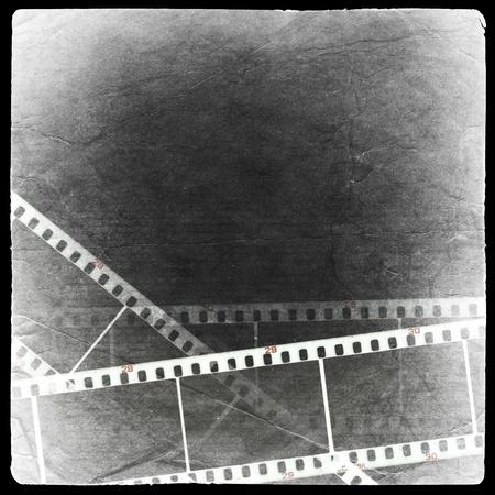 Photographic negative background. Isolated on black. photo