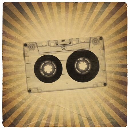 tape recorder: Vintage music abstract background