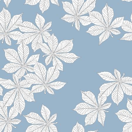 Chestnut leaves. Seamless pattern. Vector, eps8, easy editable.