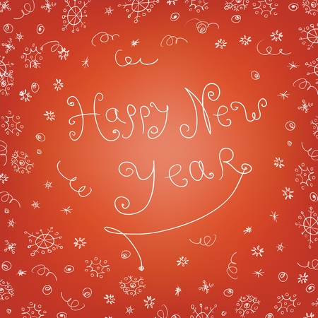 Handwritten quirky new year background