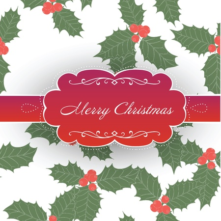 aquifolium: Vintage Christmas Background.