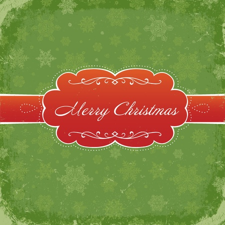 Merry Christmas Grunge Invitation Background.  Vector