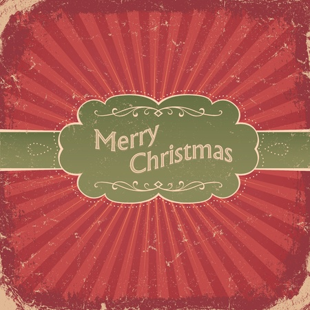 Retro Christmas Background.  Vector