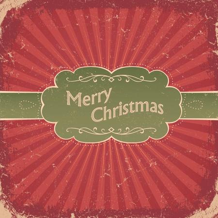 Retro Christmas Background.  Vector