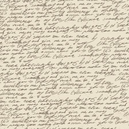 Abstract handschrift op oude vintage papier. Naadloze patroon