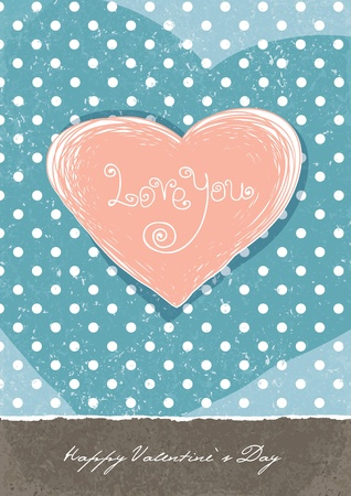 Valentines retro cute background. A4 format, vector, EPS10. Stock Photo - 11547779