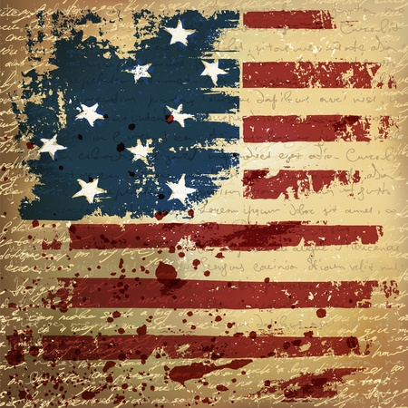 us grunge flag: Independence Day Background. Abstract, grunge