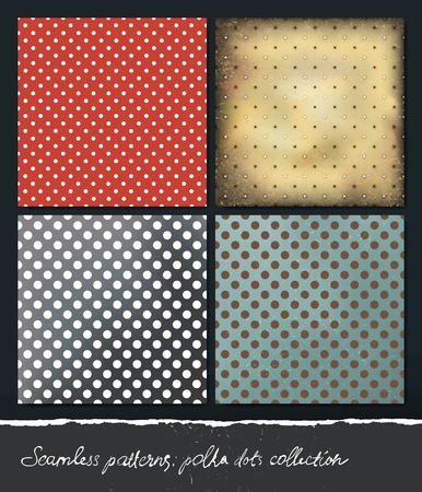 Polka dots backgrounds collection.  Vector