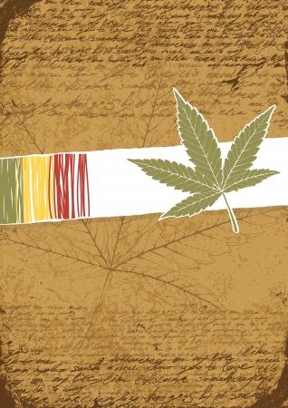 rastafarian: Rasta retro abstract  background. Illustration