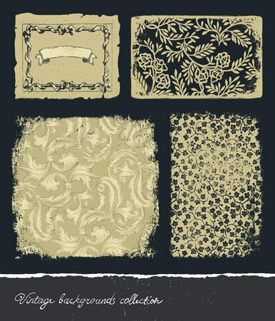 Vintage backgrounds collection Stock Vector - 11661298